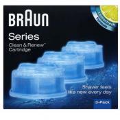 Braun Rasoir Homme - 3 RECAMBIOS LIMPIADORES BRAUN - Cuchilla eléctrica y maquina de afeitar