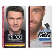 Just For Men - DUO COLORATION CHEVEUX & BARBE Châtain - Tinte just for men