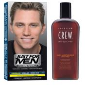 Just For Men - COLORATION CHEVEUX & SHAMPOING Châtain Clair - Tinte just for men