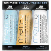 Men-U Homme - SET DE VIAJE - Kit afeitado y cosméticos faciales, ¡el regalo ideal! -